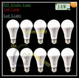 Bubble Ball Bulb Lamp NZ - 16x E27 Globe Led Lamp 14W the White body 85V-265V Bubble Ball Lamp Led Lighting Led Bulbs