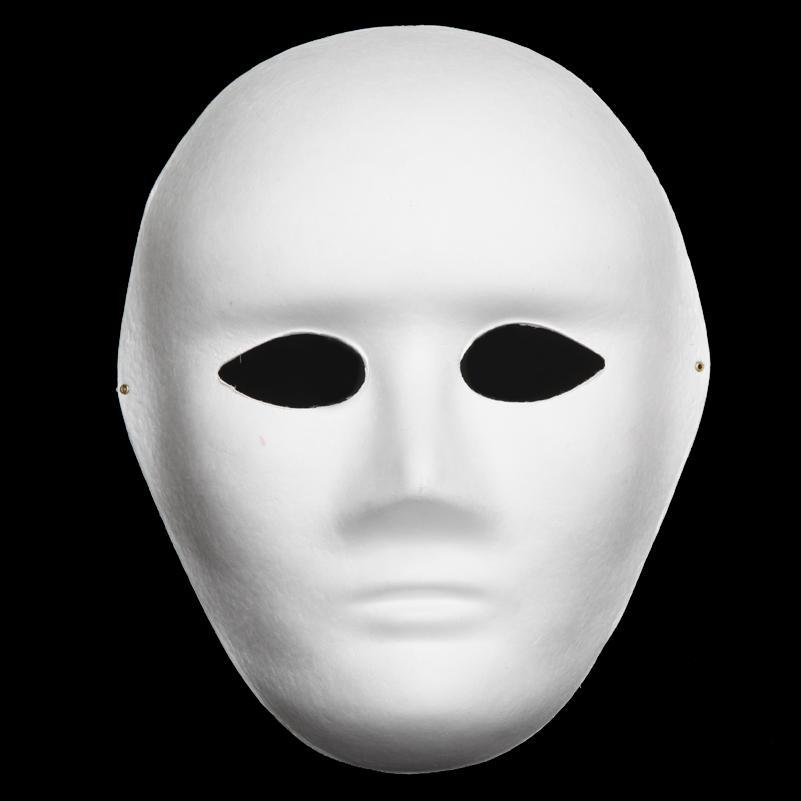 Compre Hombres Sin Pintar Máscaras Blancas En Blanco De Cara ...