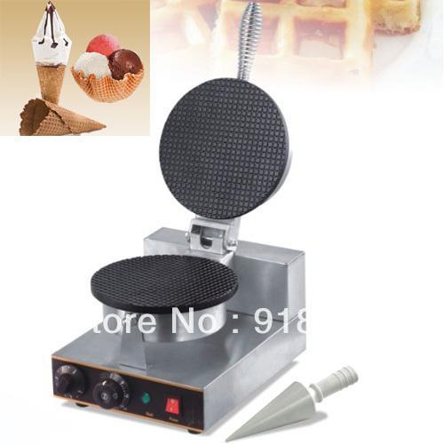Acier inoxydable Usage commercial Non Bâton 110v 220v Électrique Crème Glacée Gaufre Baker Maker Machine Fer