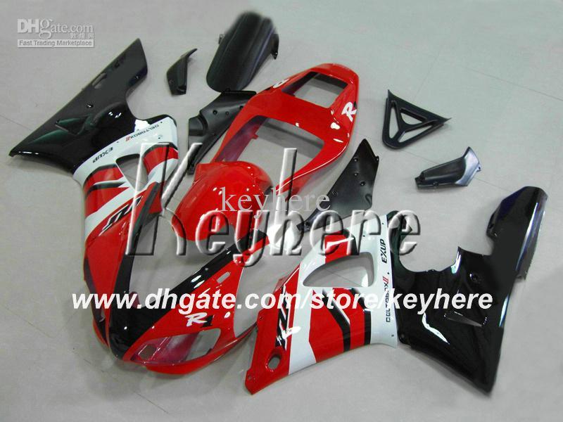 Personalizza kit carena in plastica ABS Yamaha YZF R1 1998 1999 YZFR1 1998 1999 YZF-R1 98 99 carene G4e nuovo nero parti moto bianco rosso
