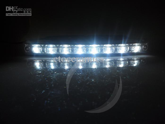 2013 Nieuwe Wholesale Goedkope Super White 8 LED Universal Car Light Day Time Running Auto Lamp