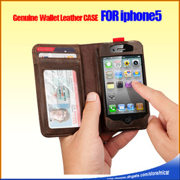 Wholesale Antiques Books - Genuine Flip Leather Wallet Antique Book Style Case for iPhone 5 5G 4G iphone6 4.7 plus Brown Color without retail Packing