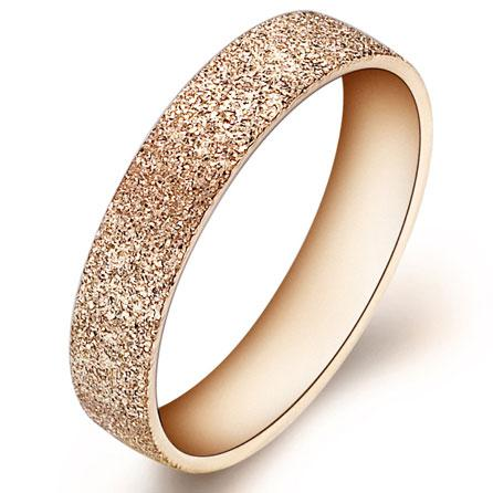2013 Fashion Titanium Wedding Ring For Women Gold Plated Steel
