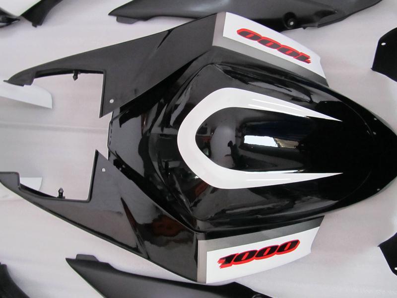 7 GIFTS + SEAT Cowl Working Kit dla Suzuki GSXR1000 K5 GSXR 1000 2005 2006 GSXR 1000 05 06 Czarna biała forma wtryskowa