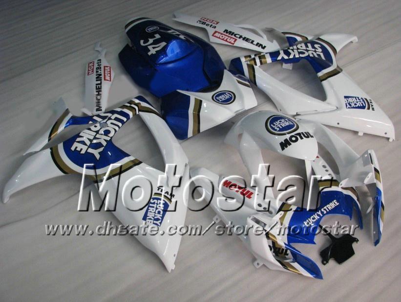 Injection mold fairing kit for SUZUKI 2006 2007 GSXR 600 750 K6 GSXR600 GSXR750 06 07 R600 R750 Lucky Strike fairings set
