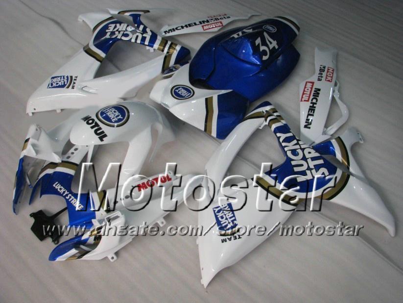Kit de carenagem para SUZUKI 2006 2007 GSXR 600 750 K6 GSXR600 GSXR750 06 07 R600 R750 Conjunto de carenagens Lucky Strike