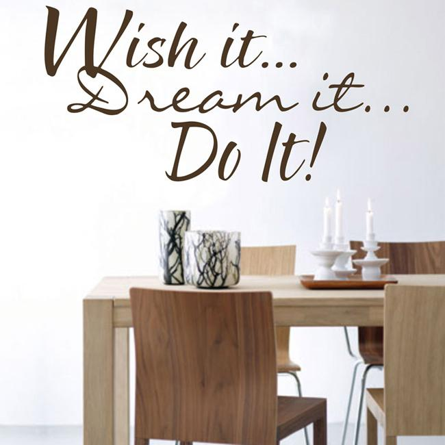 Elegant 39x80cm Do It Wall Quotes Stickers Home Wall Decals Living Room Wall Decor  Wall Art Wall Decals Sticker Wall Decals Stickers From China_crafts, ...