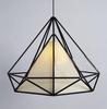 Modern Classic American Style Iron PVC Pyramid-shaped Pendant Lamp Dining Room Study Room Chandelier