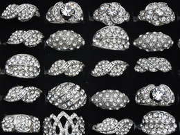 Wholesale Cheap Wholesale Costume Rings - Mix Design Alloy Rings Cheap Vintage Metal Alloy Crystal Ring Fashion Costume Jewelry [CZ50*50]