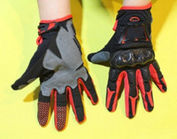 Wholesale Fiber Fox - fox bomber Motorcross Motorcycle bike Cycling Racing Gloves RED