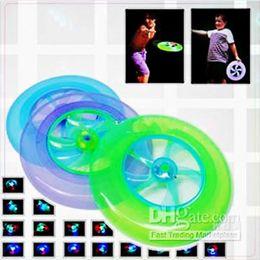 $enCountryForm.capitalKeyWord Canada - New LED Flying Toys Flash Frisbee UFO Flying Disc Rotating Flywheel Kids Christmas Gift New Styles