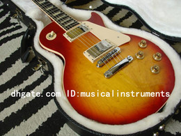 Wholesale Electric Guitar Free Hard Case - Custom TRADITIONAL PRO SUNBURST Electric Guitar WITH HARD CASE OEM guitars Best Free Shipping wholesale guitars from china