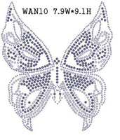 Wholesale Animal Insect Rhinestone Transfers - Wholesale The butterfly Crystal china AAA quanlity WAN10 Animal & Insect rhinestone transfers Fast Shipping