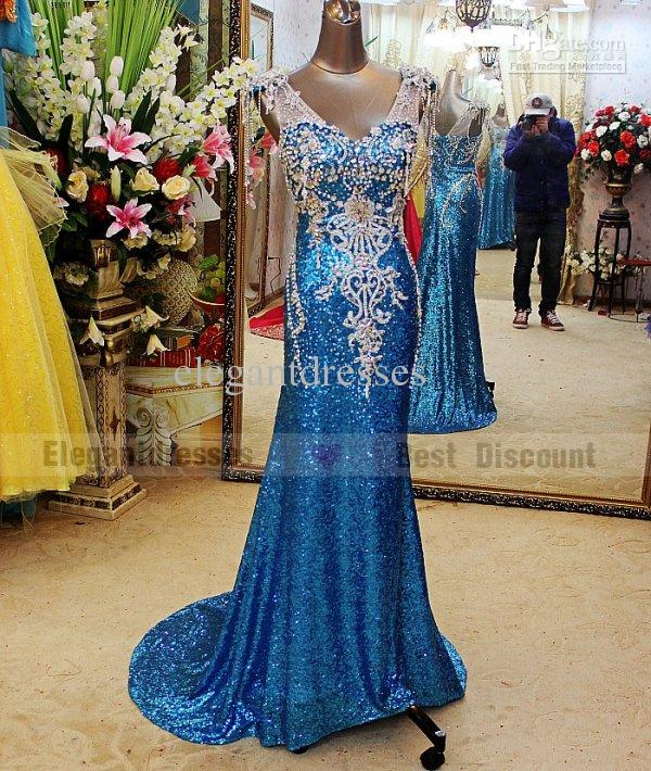 Cheapest dress 2019 A-line Sexy gorgeous Crystal Evening Dresses Sweep Train amazing V neck Prom Dresses tb004