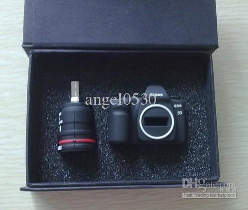 Criativo Mini Câmera Bonito porco USB Flash Memory Stick Pen Drive U disco Real 2 GB 4 GB 8 GB 16 GB + caixa