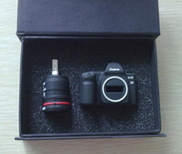 вспышка 2gb оптовых-Творческий Мини-камера милый свинья USB флэш-памяти Stick Pen Drive U диск реальный 2 ГБ 4 ГБ 8 ГБ 16 ГБ + коробка