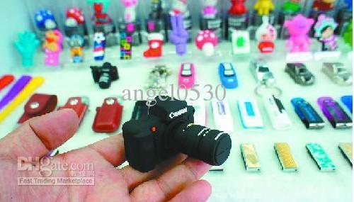 Yaratıcı Mini Kamera Sevimli domuz USB Flash Bellek Sopa Kalem Sürücü U disk Gerçek 2 GB 4 GB 8 GB 16 GB + kutu