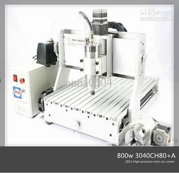 Promosyon yüksek kalite 6090 CH80 2200 w yumuşak metaller plastik ağaç İşleme cnc mini oyma makinesi