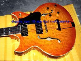 Wholesale Es Sunburst - Custom shop Johnny JAZZ es Electric Guitar Honey burst Flame guitars from china