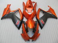 100% fitment Injection für SUZUKI 2006 2007 GSXR750 GSX-R600 06 07 GSXR 600 750 K6 Orange Schwarz Verkleidungs ​​66Z84 Form