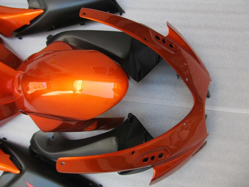 100 % 부속품 주입 스즈키 년 2006 년 2007 년 GSX-R600 GSXR750 06 07 GSXR 600 750 K6 오렌지 블랙 페어링 66Z84를 들어 성형