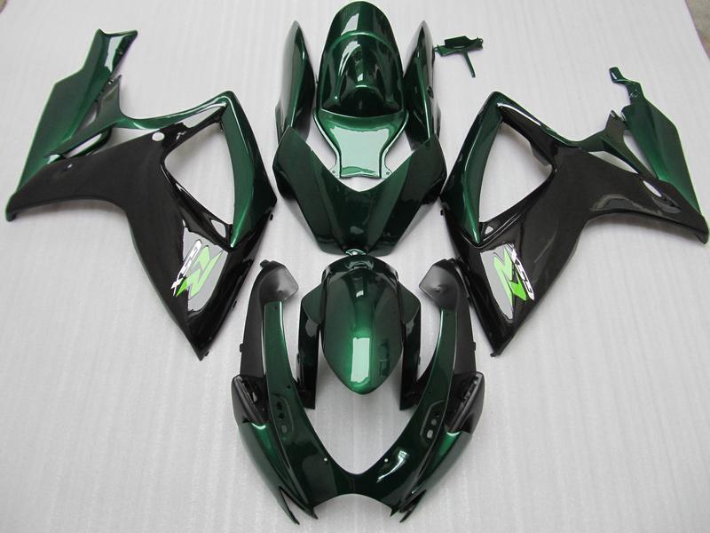 스즈키 년 2006 년 2007 년 GSX-R600 GSXR750 06 07 GSXR 600 750 K6 그린 블랙 페어링 66Z87 100 % 맞춤 사출 성형 페어링