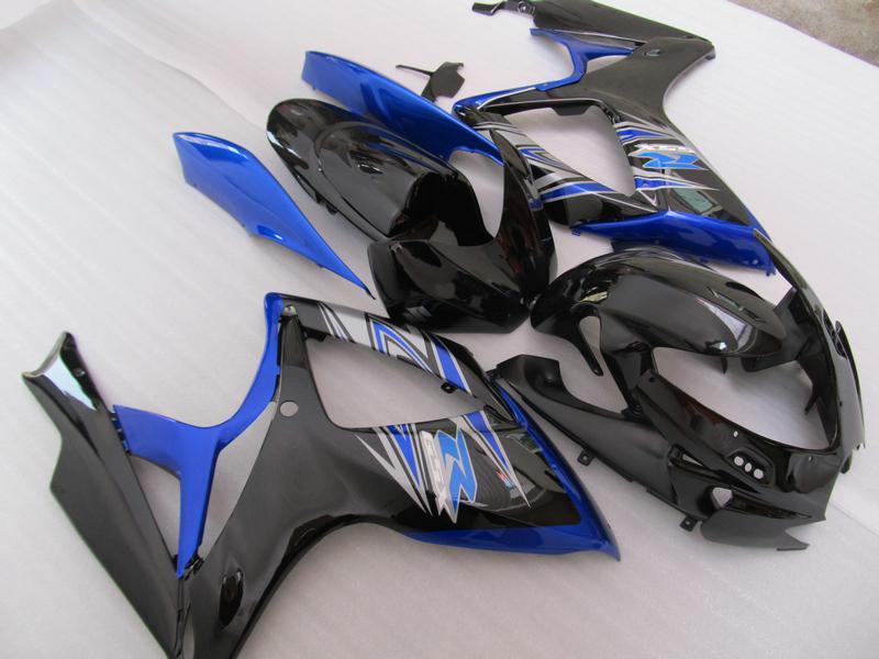 5ギフト射出成形ケーム2006 2007 GSX-R600 GSXR750 06 07 GSXR 600 750 K6コロナダークブルーフェアリングセット67U02