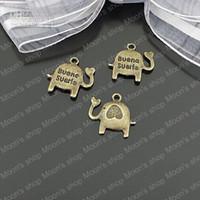 Wholesale Elephant Bronze Tone Charms - (24836)Alloy Findings,charm pendants,Antiqued style bronze tone 15MM Baby elephant 50PCS