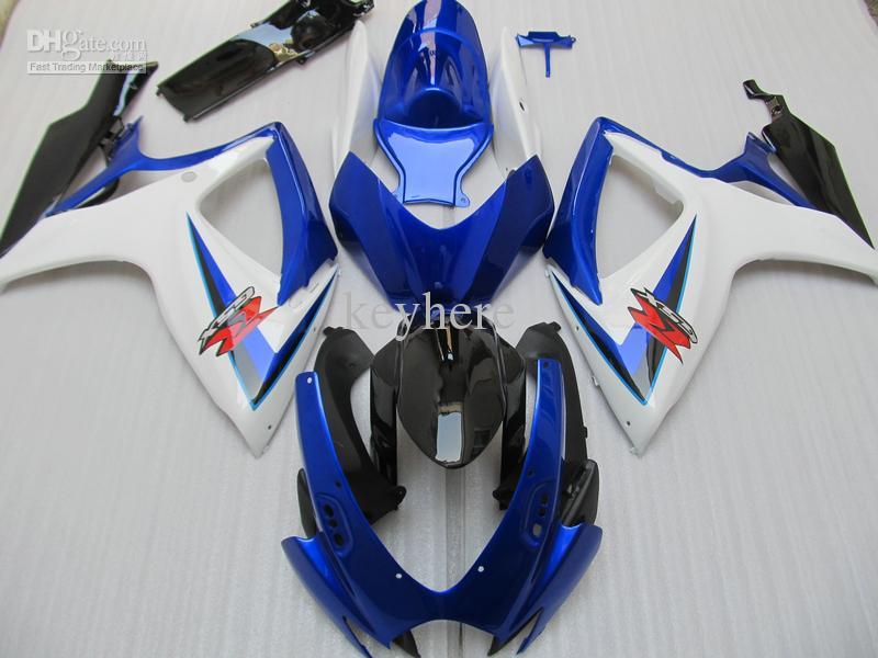 100% de inyección de ajuste del kit del carenado moldeado para SUZUKI 2006 2007 GSX-R600 GSXR750 GSXR 600 06 07 750 K6 azul Negro carenado 96Z72