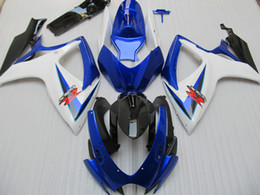 Wholesale Injection Molded - 100% fit injection molded fairing kit For SUZUKI 2006 2007 GSX-R600 GSXR750 06 07 GSXR 600 750 K6 blue Black Fairing 96Z72