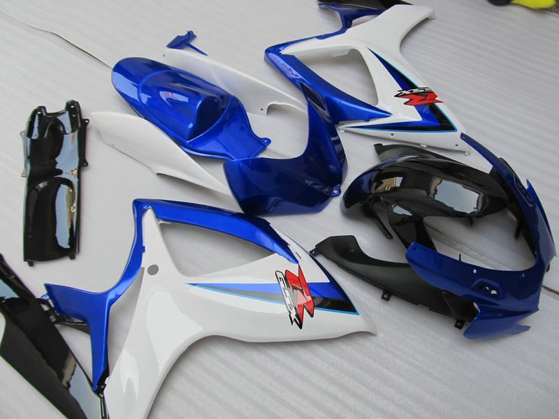 스즈키 년 2006 년 2007 년 GSX-R600 GSXR750 06 07 GSXR 600 750 K6 블루 블랙 페어링 96Z72 100 % 맞춤 사출 성형에서 산 선물 키트