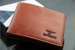 Wholesale Center Square - wholesale wallets New Mens Coffee Mens short Wallet Leather Pockets Card Clutch Center Bifold Purse Brown