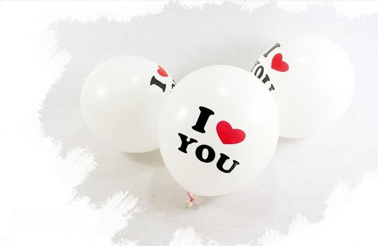 Vente chaude mariage décoration ballons 12 pouces ronde proposition ballon romantique avec je t'aime belle pour les amateurs de bonne qualité dropship