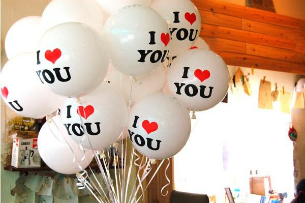 Hot Selling Wedding Decoration Balloons 12inch Round Proposal Balloon Romantic with I LOVE YOU Beautiful for lovers good quality dropship