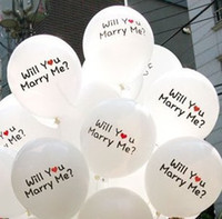 Wholesale Married Rings - Wedding Room Decoration Balloons 12inch Round Balloons Romantic with Will You Marry Me? Beautiful for lovers' Proposal dropship POP Sale