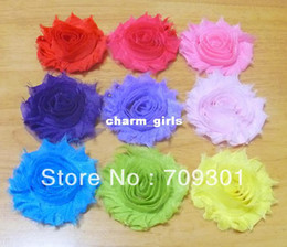 "Wholesale Wholesale Chiffon Frayed Flower - 2.5"" chic shabby frayed chiffon flowers,chiffon Rosette flowers shabby flowers 100pcs lot"