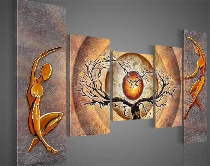 5 Panel Wall Art 2017 5 panel wall art fine art figure painting on canvas for sale