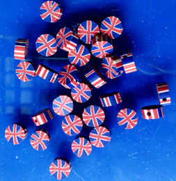 Wholesale Diy Loose Ceramic Beads - 3000pcs per lot red and blue round good national flag polymer clay jewelry loose beads for bracelet and necklace mix order DIY
