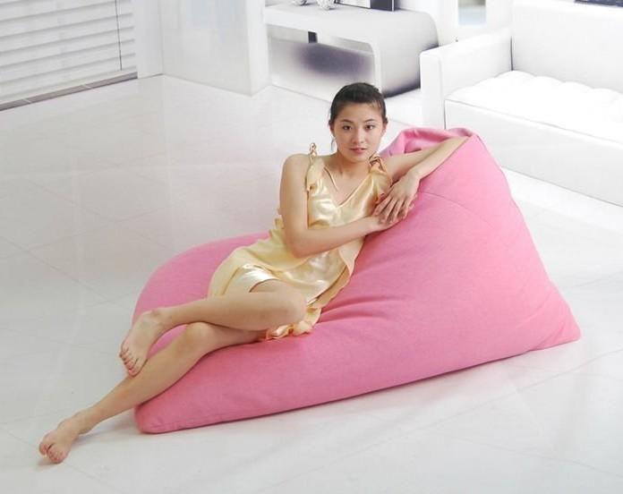 2018 Cool Breathable Soft Pink Pivot Living Room Bean Bag Chair, Big ...