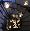 Hot Selling LED Crystal Glass Pendant Light Meteoric Shower Stair Light For Dining Room And Living Room