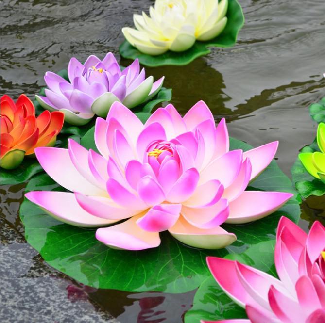 cm simulation lotus flower artificial silk lotus floating water, Natural flower