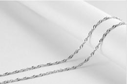 Wholesale 925 Platinum Chain - 925 silver wave necklace, fashion necklace chain wholesale 1. 2 mm 18-inch(45cm) 50pcs