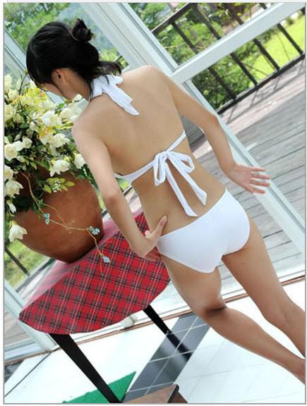 Traiangle Yapışık Mayo Gösterisi Ince Kabarcık Kaplıca Mayo, moda bikini 2 renk seçebilirsiniz, 10 adet / grup,