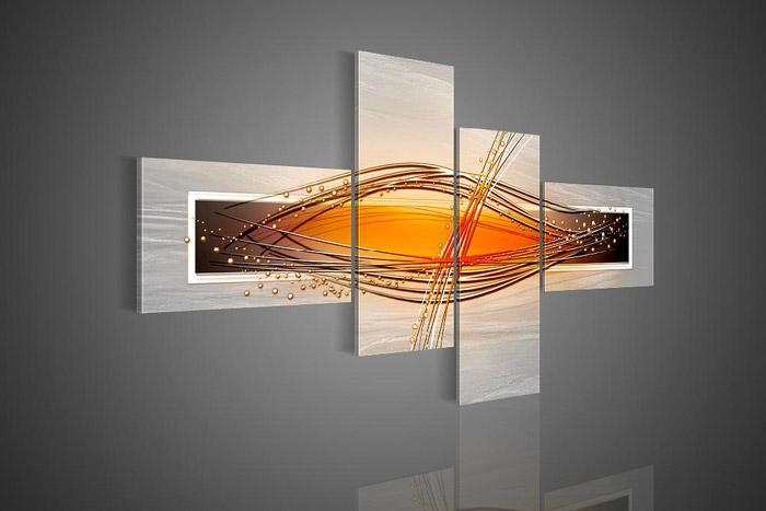 4 Piece Wall Art online cheap wall art modern abstract picture wishes oil painting