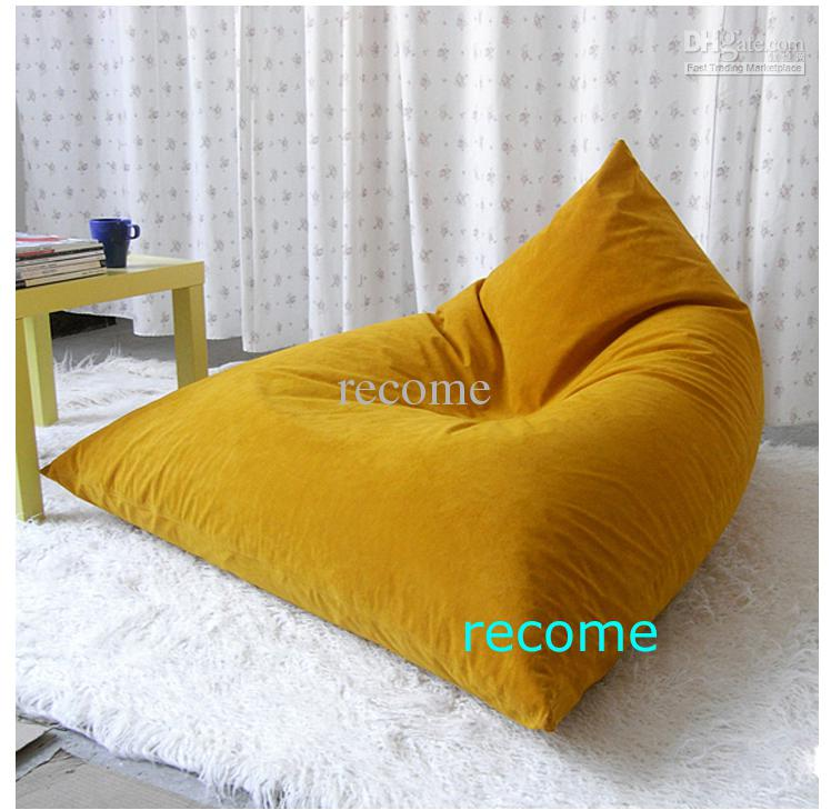 2017 Dessert Orange Pivot Living Room Bean Bag Chair, Big Beanbag ...