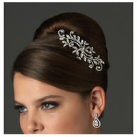 Wholesale Moon Stick - Free Shipping High quality Crystal Classic Stunning wedding bridal crystal flora hair accessory headpiece Bridal Hair Comb