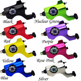 Wholesale Rotary Tattoo Machine Rca - Solong Tattoo Pro Bishop Style Rotary Tattoo Machine Gun Shader Liner RCA with 8 Color M653A