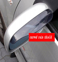 Wholesale Mirrors Covers For Toyota - Wholesale High Quality Universal DIY Auto Parts Car Rear View Mirror Flashing For Car Mirror Cover Rainproof Blade