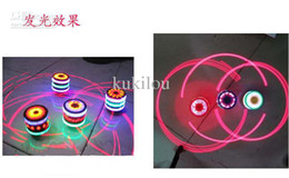 Wholesale Spinning Tops Laser - free shipping gyro toys Gift Shining Spinning Top Toy Laser LED Flashing Light Multi-color Spinning