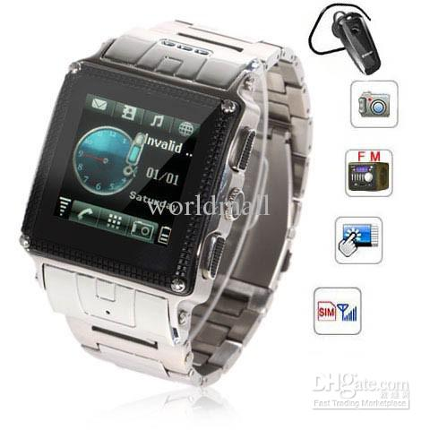 Best 1 5 W818 Waterproof Watch Phone Quad Band Single Sim Bh320 Bluetooth Headset Touch Screen Fm Mp3 Mp4 Camera Bluetooth Mobile Cell Phone Android Phones With Keyboards Android Unlocked Phone From